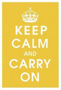 Keep Calm (mustard)