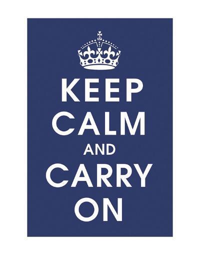 Keep Calm (navy)-Vintage Reproduction-Art Print