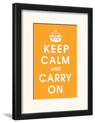 Keep Calm (orange)--Framed Giclee Print