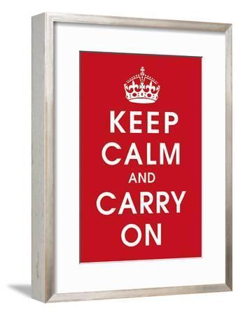 Keep Calm (Red)--Framed Art Print