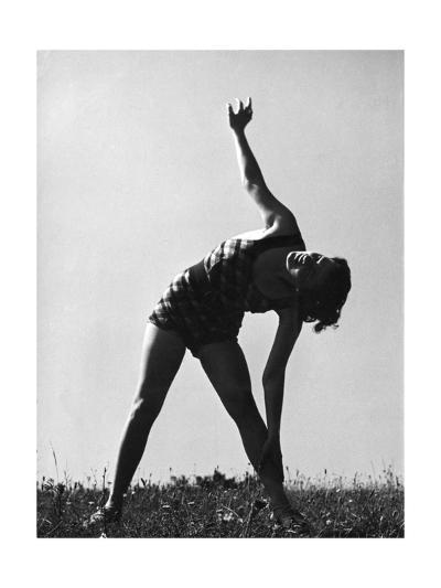 Keep Fit, Side Stretch--Giclee Print
