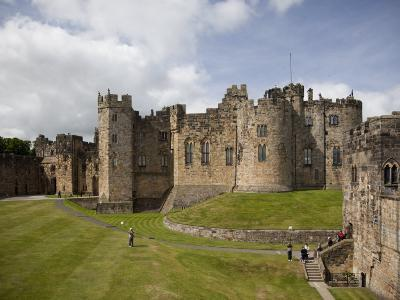 Keep from the Curtain Wall, Alnwick Castle, Northumberland, England, United Kingdom, Europe-Nick Servian-Photographic Print