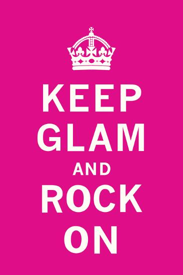 Keep Glam and Rock On II-The Vintage Collection-Art Print