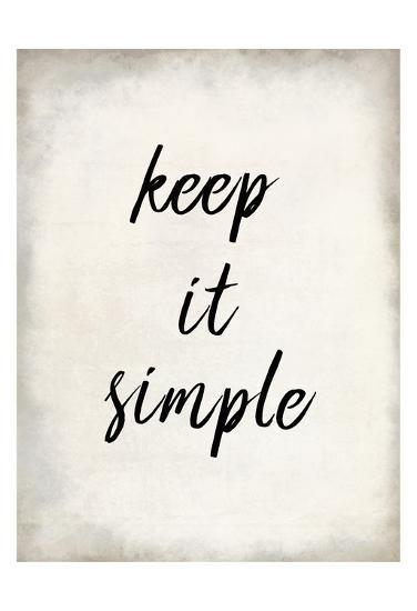 Keep it Simple-Kimberly Allen-Art Print