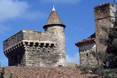 Keep of Lespinasse Castle, Near Saint-Beauzire, Auvergne, Detail, France--Giclee Print