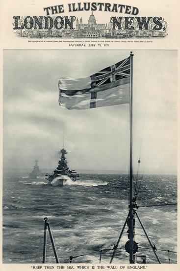 'Keep Then the Sea, Which Is the Wall of England', from 'The Illustrated London News Royal Naval…-English School-Giclee Print
