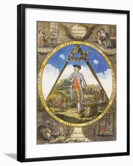 Keep Within the Compass circa 1784-Robert Dighton-Framed Giclee Print
