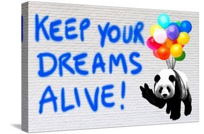 Keep your dreams alive!-Masterfunk collective-Stretched Canvas Print