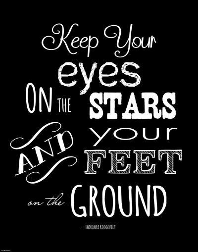 Keep Your Eyes On the Stars - Theodore Roosevelt-Veruca Salt-Art Print