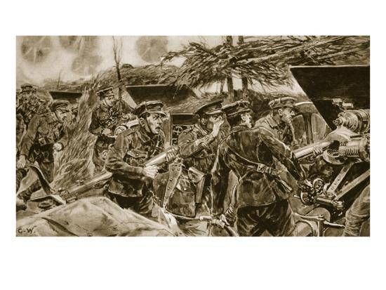 Keep your mouths open!' from 'The Illustrated War News', 1916-Richard Caton Woodville-Giclee Print