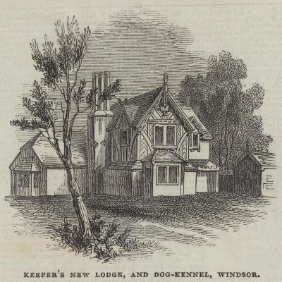 Keeper's New Lodge, and Dog-Kennel, Windsor--Giclee Print