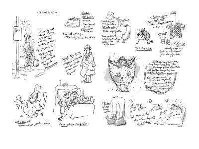 Keeping Warm - New Yorker Cartoon-George Booth-Premium Giclee Print