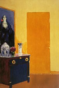 Interior with Yellow Door by Kees van Dongen