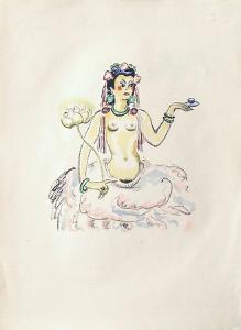 La Princesse de Babylone 25 (Suite couleur) by Kees van Dongen