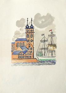 La Princesse de Babylone 28 (Suite couleur) by Kees van Dongen
