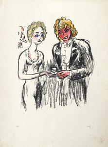 La Princesse de Babylone 34 (Suite couleur) by Kees van Dongen