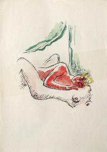 La Princesse de Babylone 41 (Suite couleur) by Kees van Dongen