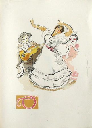 La Princesse de Babylone 46 (Suite couleur) by Kees van Dongen
