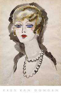 Woman with Pearls by Kees van Dongen