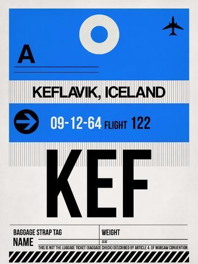 KEF Keflavik Luggage Tag I-NaxArt-Art Print