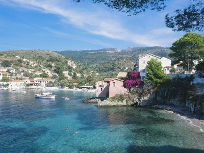 Kefalonia, One of the Small Beaches in the Village of Assos-Ian West-Photographic Print