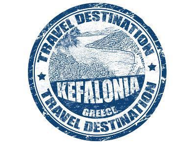 Kefalonia Stamp-radubalint-Art Print