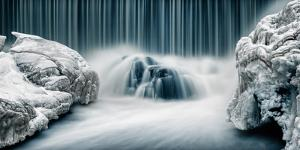 Icy Falls by Keijo Savolainen