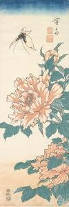 Butterfly and Tree Paeony by Keisai Eisen