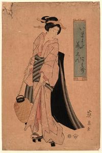 Chochi O Motsu Onna by Keisai Eisen