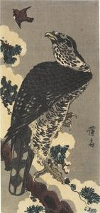 Eagle and Sparrow by Keisai Eisen