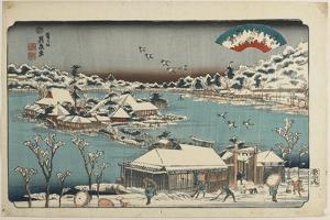 Evening Snow at Shinobugaoka, 1843-1847 by Keisai Eisen