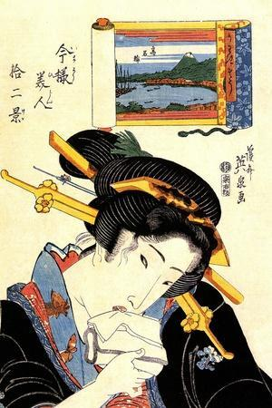 From the Series the Beauties of Tokaido, 1830-1835