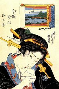 From the Series the Beauties of Tokaido, 1830-1835 by Keisai Eisen