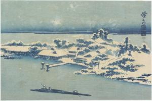 Island Village in Snow, C. 1824-1848 by Keisai Eisen