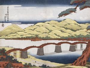 Kintai Bridge at Iwokuni in Suo Province by Keisai Eisen