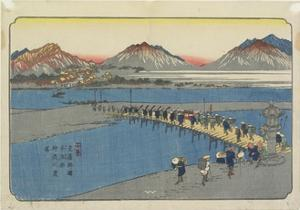 No.11: Ferry Port at the Kanna River Near Honjo Station, 1830-1844 by Keisai Eisen