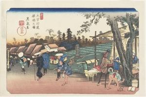No.2: Itabashi Station, 1835-1836 by Keisai Eisen