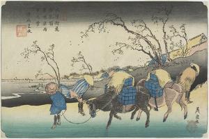 No. 20:View of Hiratsukahara in Rain Near Kustukake Station, 1835-1836 by Keisai Eisen