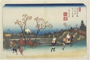 No.5: Distant View of Mt. Fuji as Seen from Omiya Station, 1830-1844 by Keisai Eisen