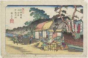 No.6: Kamo Shrine Near Ageo Station, 1830-1844 by Keisai Eisen