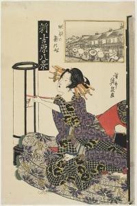 Rainy Night with a Regular Customer, C. 1820s by Keisai Eisen