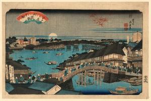 Ryogokubashi No Sekisho by Keisai Eisen