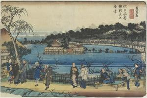Spring View of Benzai-Ten Shrine at the Shinobazu Pond in Edo, C. 1830-1844 by Keisai Eisen