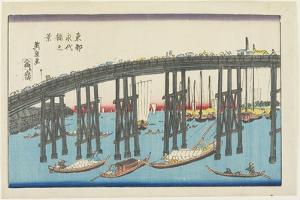 View of Eitai Bridge at the Eastern Capital by Keisai Eisen