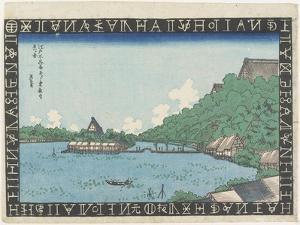 View of Toeizan Temple from Benten Hall on Shinobazu Pond, 1830-1836 by Keisai Eisen