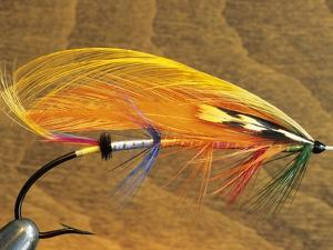 Atlantic Salmon Fly in Flytying Vise, Canada. by Keith Douglas