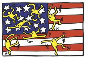 American Music Festival - New York City Ballet, 1988 by Keith Haring