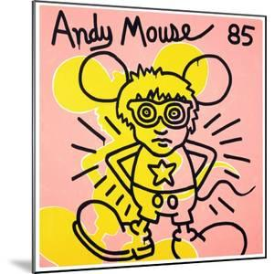 Andy Mouse 1985 by Keith Haring
