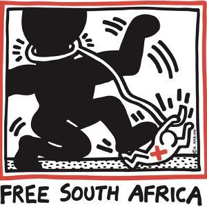 Free South Africa, 1985 by Keith Haring