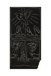 Haring - Subway Drawing Untitled - 17 by Keith Haring